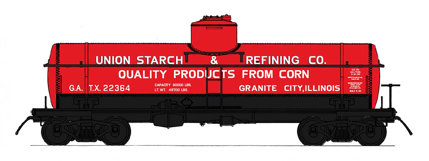 Union Starch & Refining Co. Tank Car Model