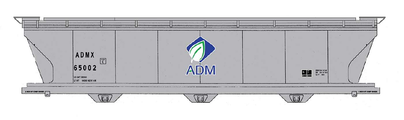 ADM 4650 Cu Ft Covered Hopper