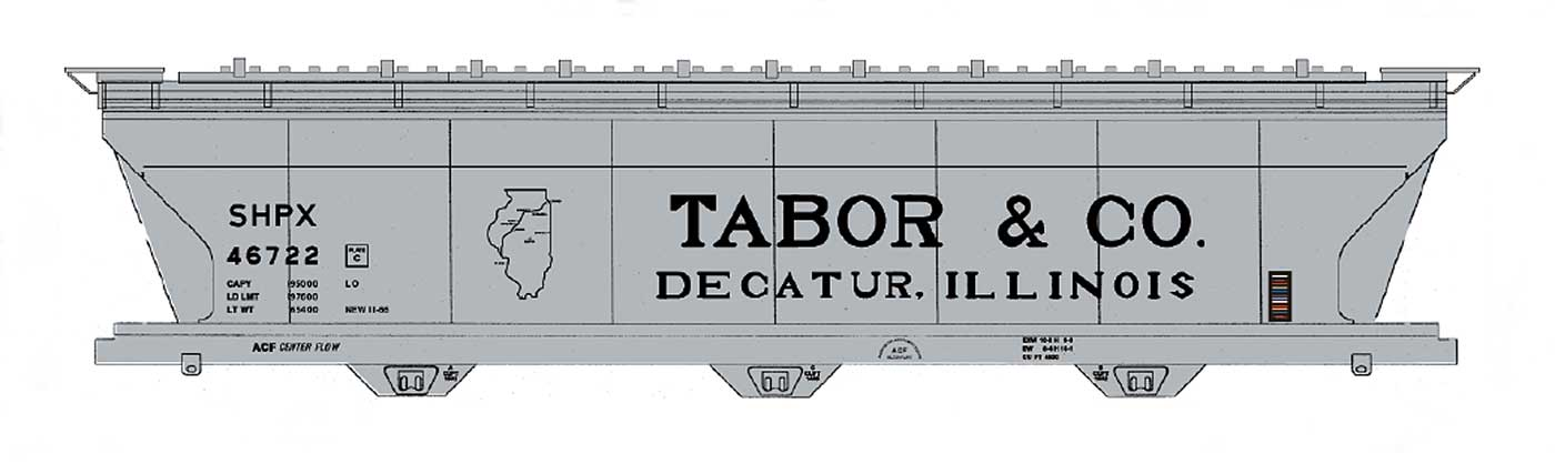 Tabor & Co. 4650 Cu Ft Covered Hopper